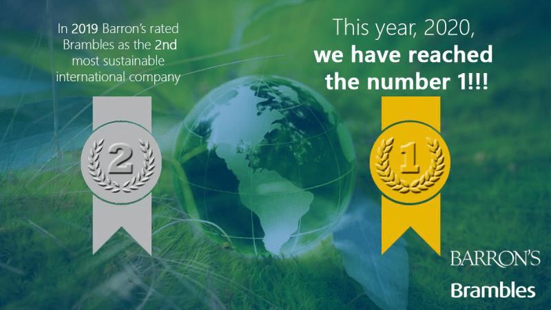 Brambles har utsetts till världens mest hållbara företag 1