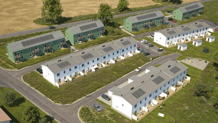Hem med solceller på taken från BoKlok säljstartas i Linköping!