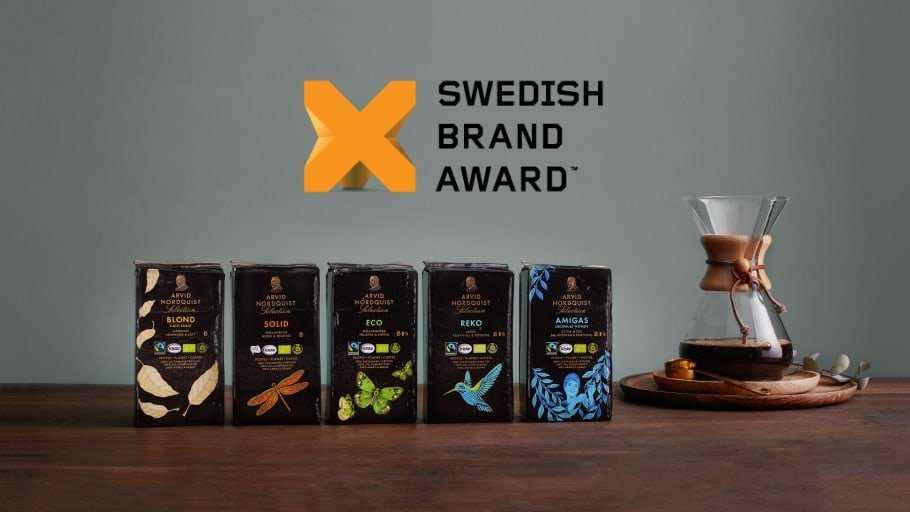 Arvid Nordquist är fortsatt Sveriges starkaste varumärke i kaffekategorin