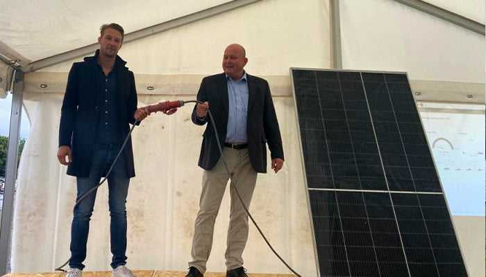 Invigning av solcellsparken hos Carlfors Bruk