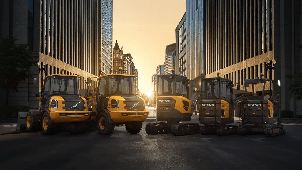 Nya eldrivna anläggningsmaskiner från Volvo